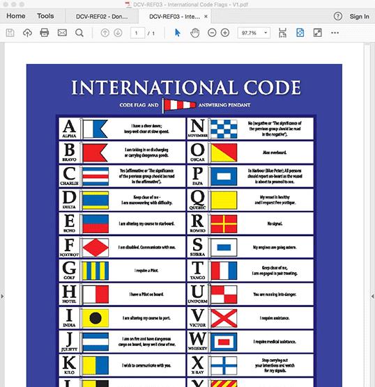 International Code Flags - STATIC PDF