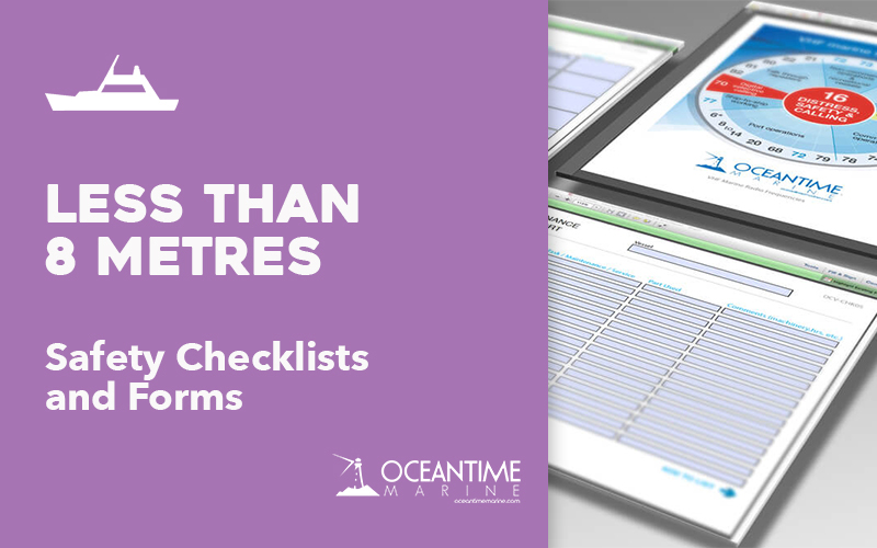 Vessel Checklists for Vessels less than 8 metres