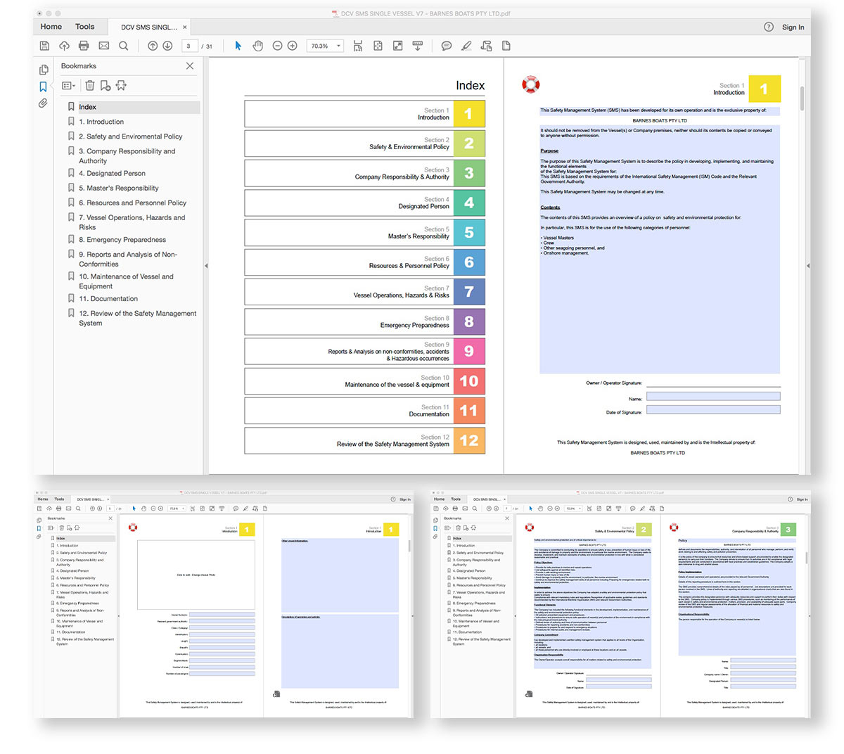 Marine Safety Management System Template