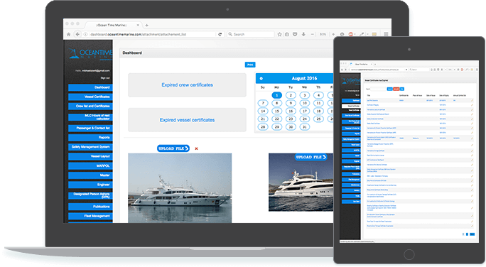 Vessel Management Software with Cloud Storage and Templates